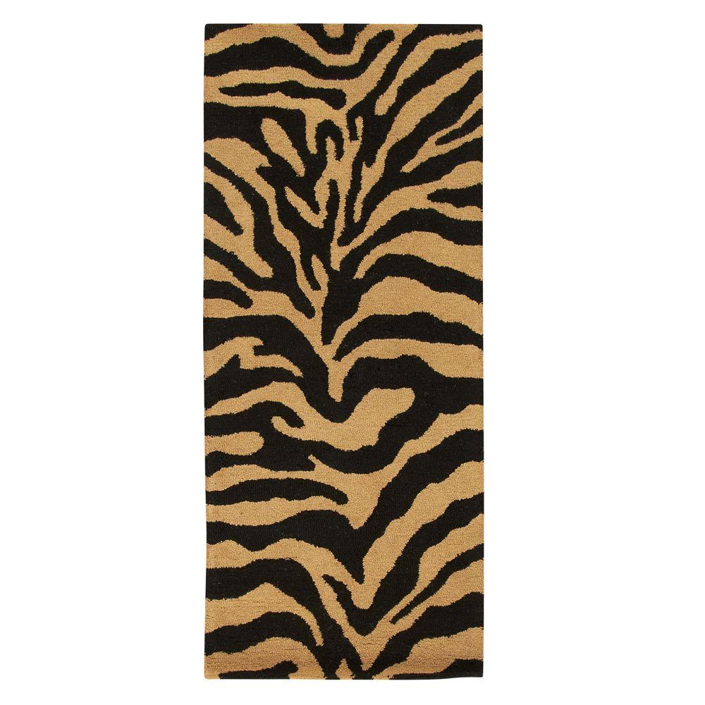 Home Decorators Collection Trek Gold/Black 2 ft. 6 in. x 10 ft. Runner