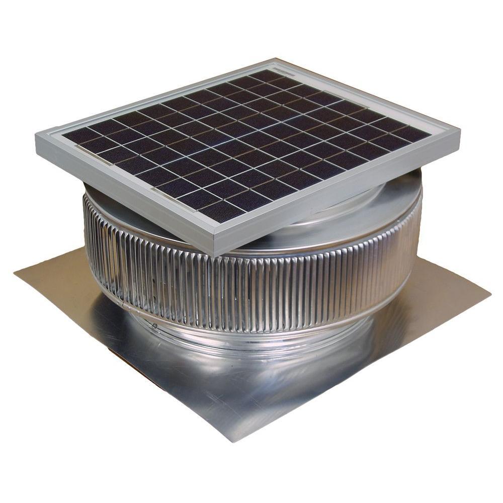Active Ventilation 1007 CFM Mill Finish 15 Watt Solar Powered 14 in. Dia. Roof Mounted Attic Exhaust Fan
