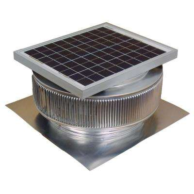 1007 CFM Mill Finish 15-Watt Solar Powered 14 in. Dia. Roof Mounted Attic Exhaust Fan