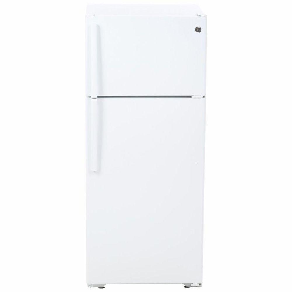 Ge 17 5 Cu Ft Top Freezer Refrigerator In White