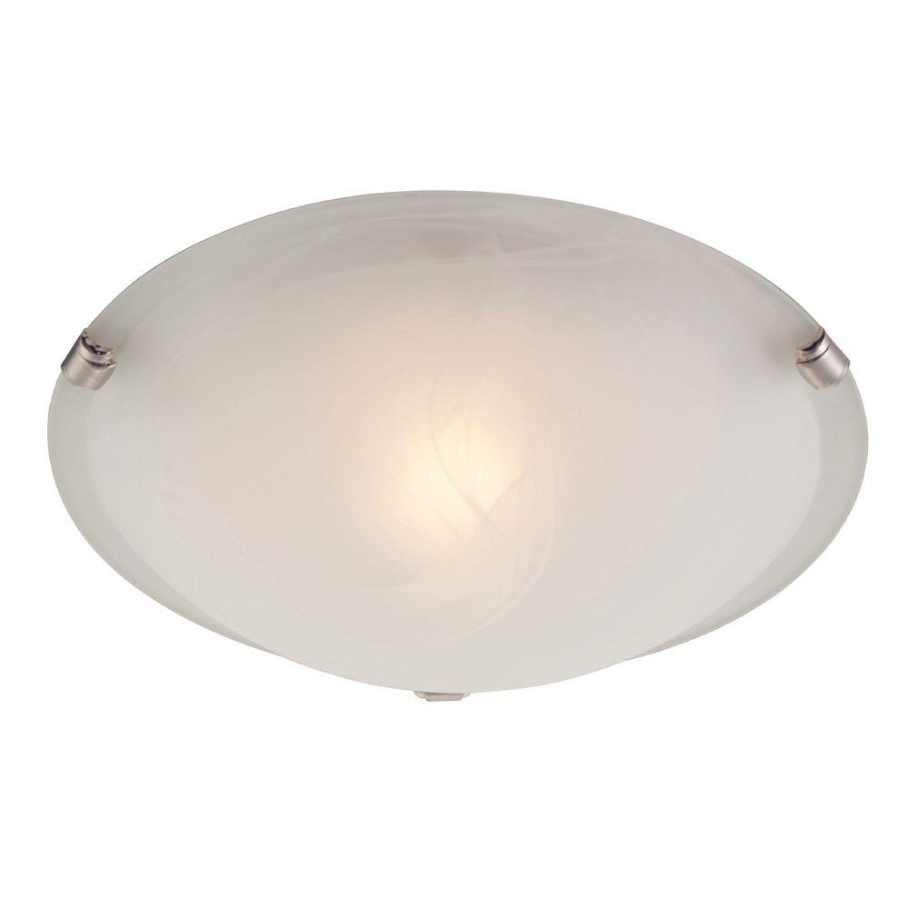 Westinghouse 1 light white and brushed nickel ceiling - Westinghouse and living ...