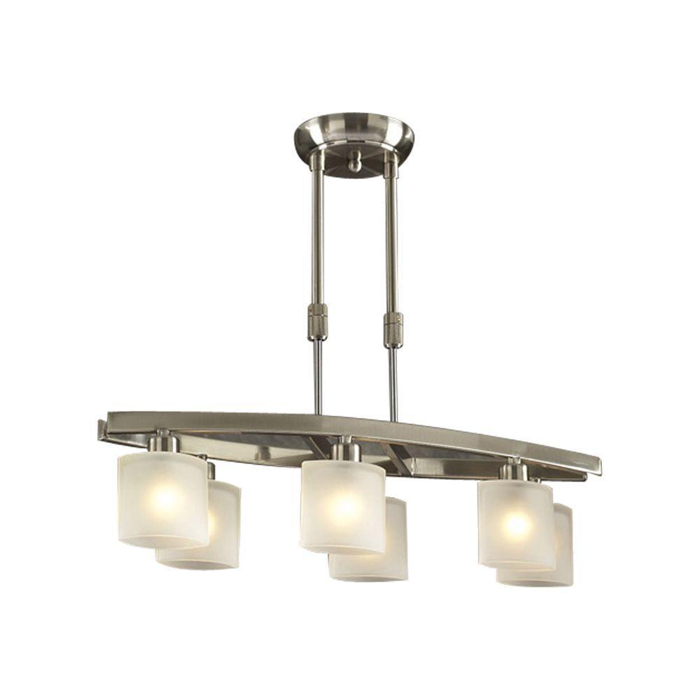 Transitional island halogen pendant lights lighting the contemporary beauty 6 light satin nickel halogen ceiling pendant aloadofball Choice Image