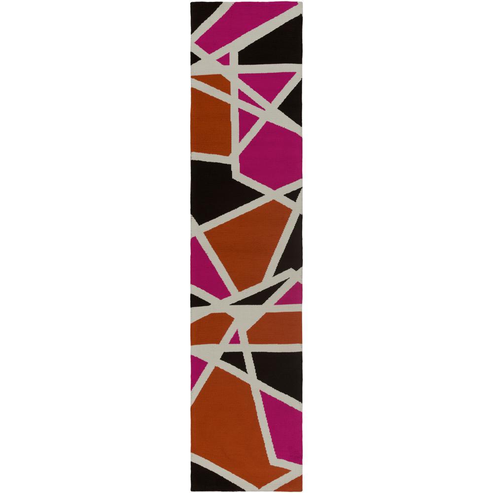Joan Holloway Hot Pink 2 ft. x 10 ft. Indoor Runner Rug