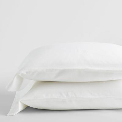 Velvet Flannel White Solid Standard Pillowcase (Set of 2)
