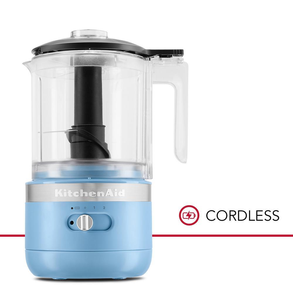 Cordless 5 Cup Blue Velvet Food Chopper