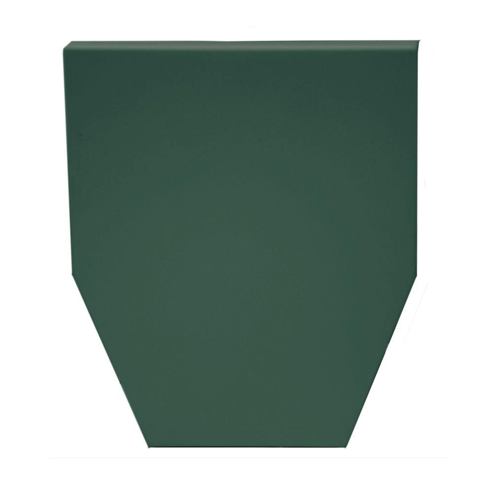 6 in. Classic Dentil Window Header Keystone in 028 Forest Green