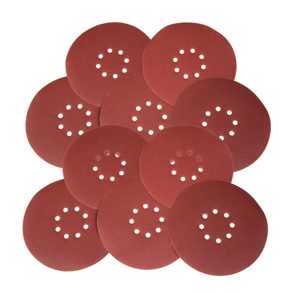 Wen Drywall Sander 120-Grit Hook and Loop 9 inch Sandpaper (10-Pack) from Packaged Sandpaper