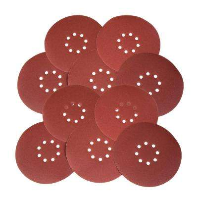 Drywall Sander 80-Grit Hook and Loop 9 in. Sandpaper (10-Pack)