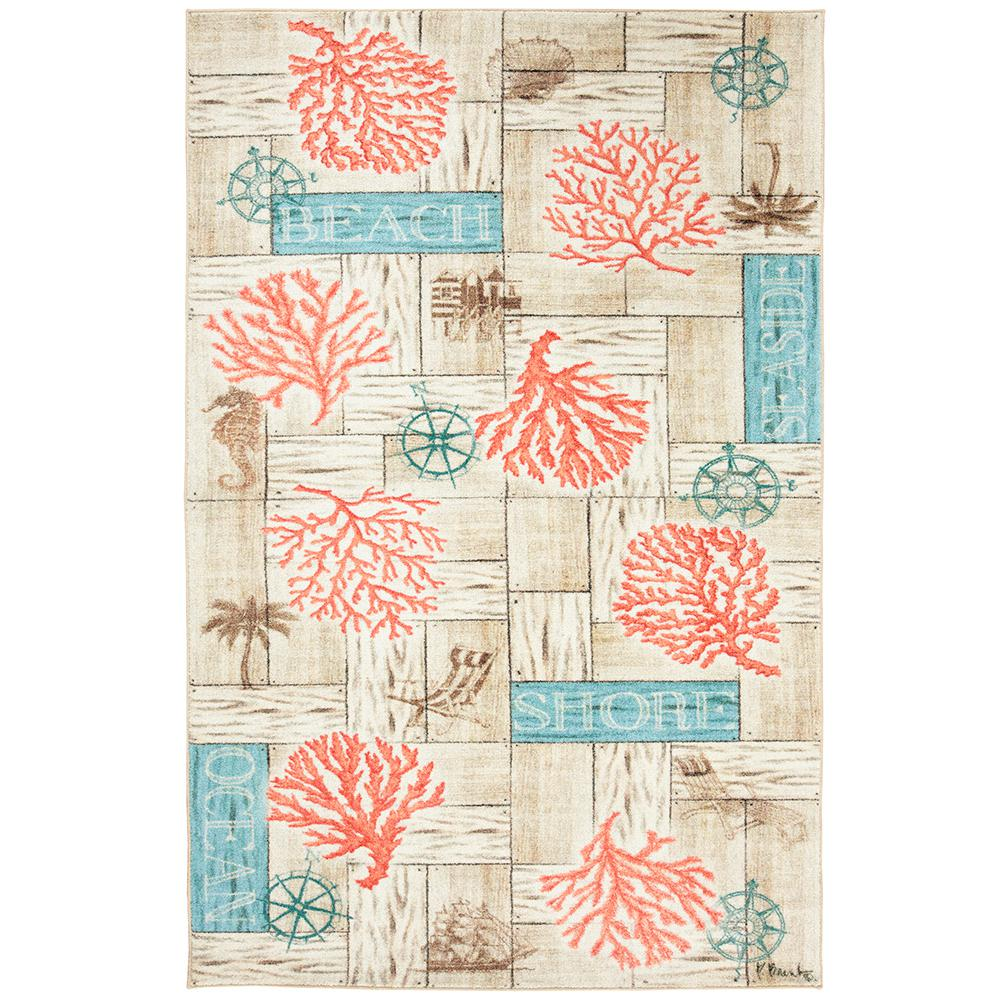 Coral Azul Multi 5 Ft X 8 Ft Area Rug