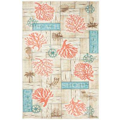 Coral Azul Multi 5 ft. x 8 ft. Area Rug