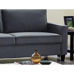 Marvelous Lifestyle Solutions Garren Microfiber Sofa With Track Arms Ibusinesslaw Wood Chair Design Ideas Ibusinesslaworg