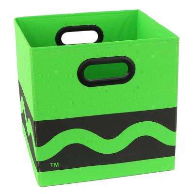 Crayola Serpentine 10.5 in. x 10.5 in. Green Folding Storage Bin