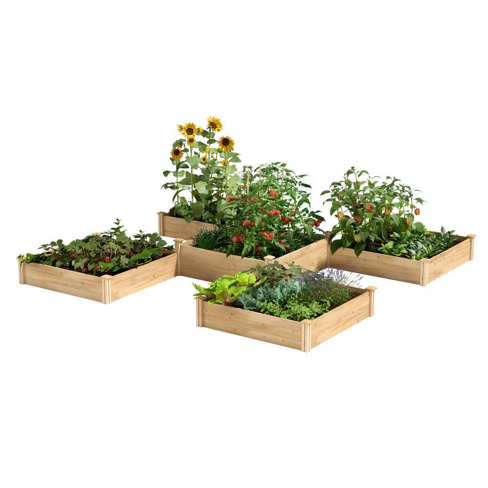 12 ft. x 12 ft. 80 sq. ft. Original Cedar Raised Garden Bed