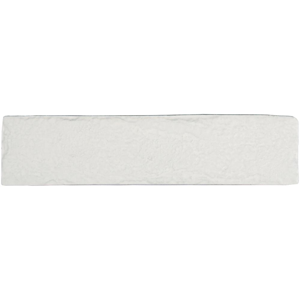 MSI Capella 2-1/3 in. x 10 in. White Brick Glazed Porcelain Floor and Wall Tile (5.17 sq. ft. / case)
