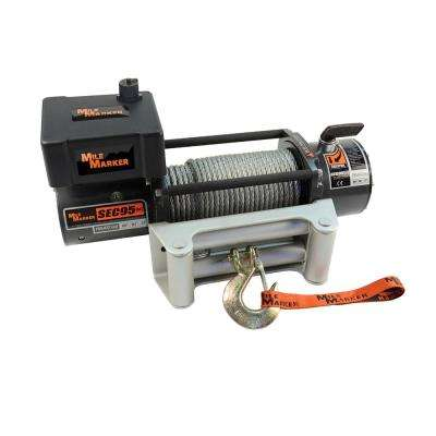 9,500 lb. Capacity SEC9.5 SUV and Truck Winch with Cable and Remote