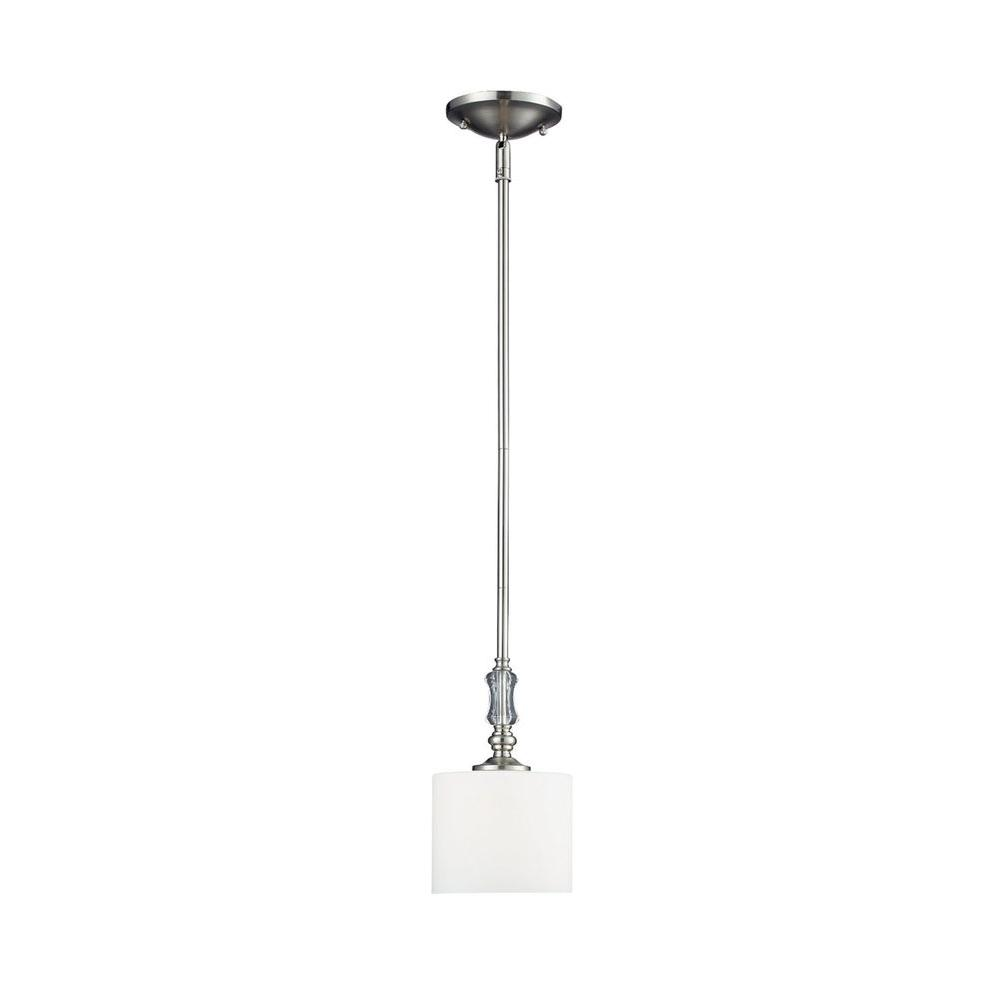 Filament Design Lawrence 1-Light Brushed Nickel Incandescent Ceiling Pendant