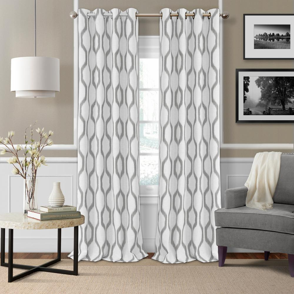 Renzo 52 in. W x 95 in. L Single Blackout Window Polyester Curtain ...