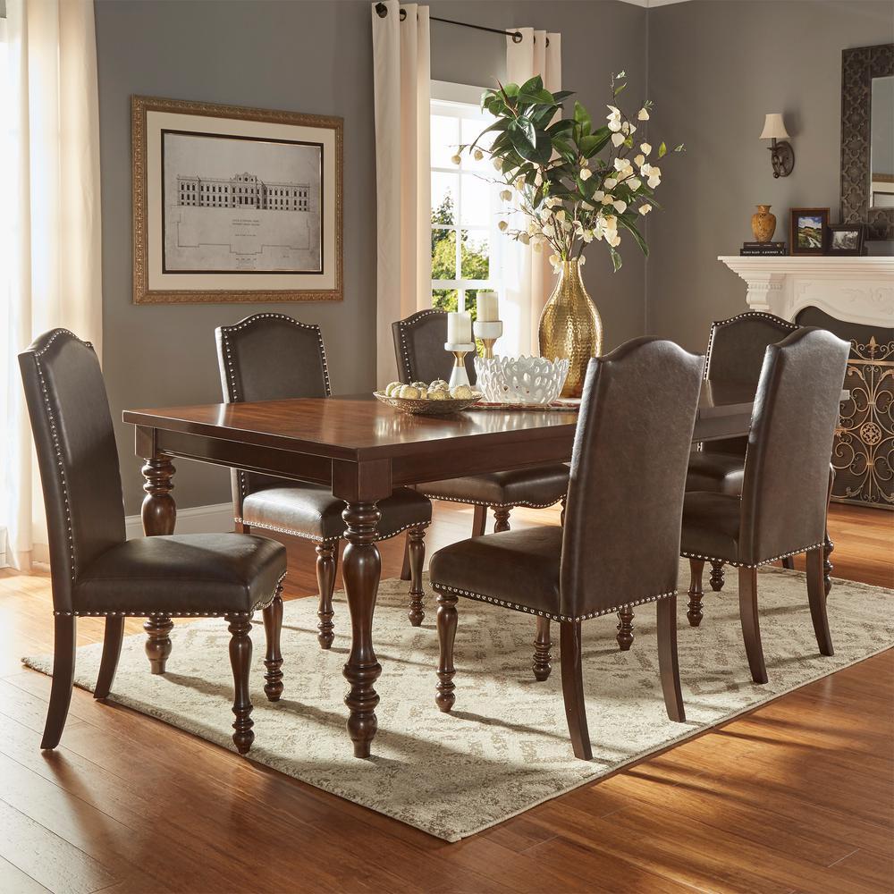 Homesullivan Madison 7 Piece Brown Extendable Dining Set
