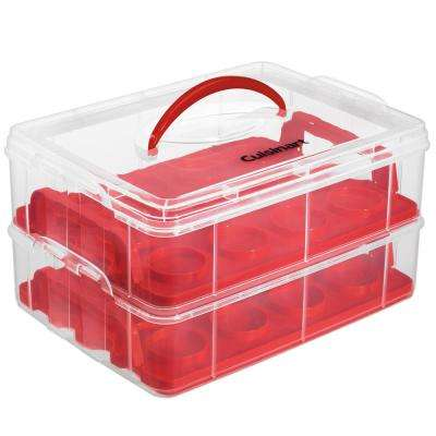 24-Piece Red Cup Cake Carrier