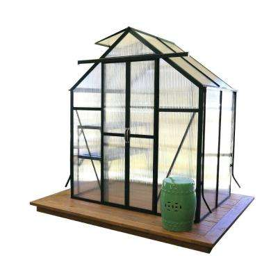 Element 6 ft. W x 4 ft. D x 7 ft. H Heavy-Duty Aluminum Greenhouse Kit with Base