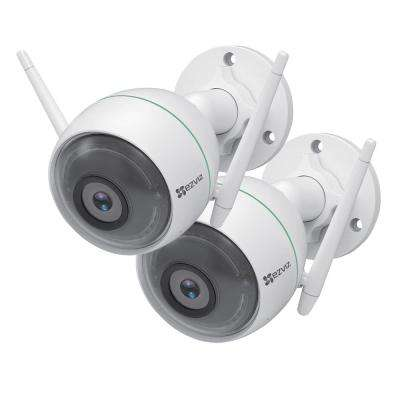 C3WN 1080p Outdoor Bullet Wi-Fi Full HD Security Camera with Smart Detection Zones (2-Pack)