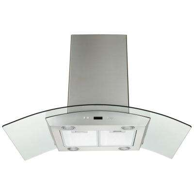 30 in. Island Mount Convertible Range Hood in Stainless Steel