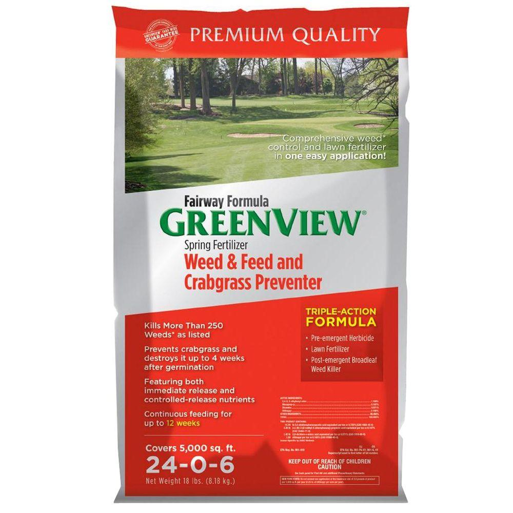 Greenview 18 lbs. Fairway Formula Spring Fertilizer Weed and Feed and Crabgrass Preventer