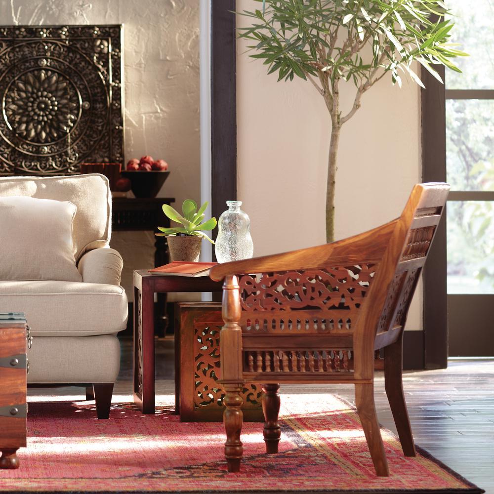 Enjoyable Home Decorators Collection Maharaja Walnut Wood Hand Carved Ibusinesslaw Wood Chair Design Ideas Ibusinesslaworg
