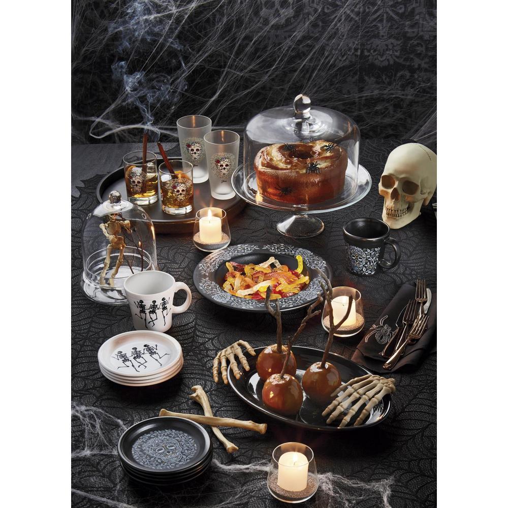Fiesta White Trio of Skeletons 15 oz. Ceramic Tapered Mug
