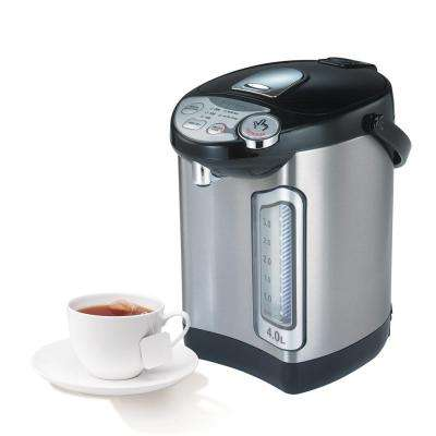 4.0 l Stainless Steel Electric Hot Water Dispenser with Auto Feed Hot Water Boiler and Warmer in Black