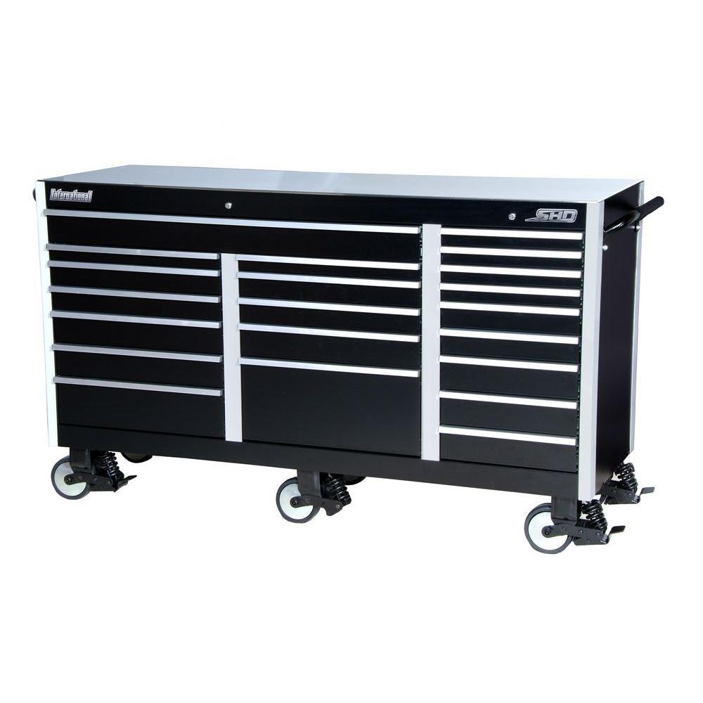 International Shd Series 73 In 21 Drawer Cabinet Black