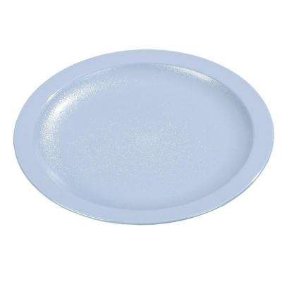 9.0 in. Diameter Polycarbonate Narrow Rim Commercial Dinnerware Plate in Slate Blue (Case of 48)