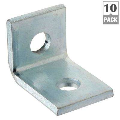 2-Hole 90 Degree Angle Strut Bracket - Silver Galvanized (Case of 10)