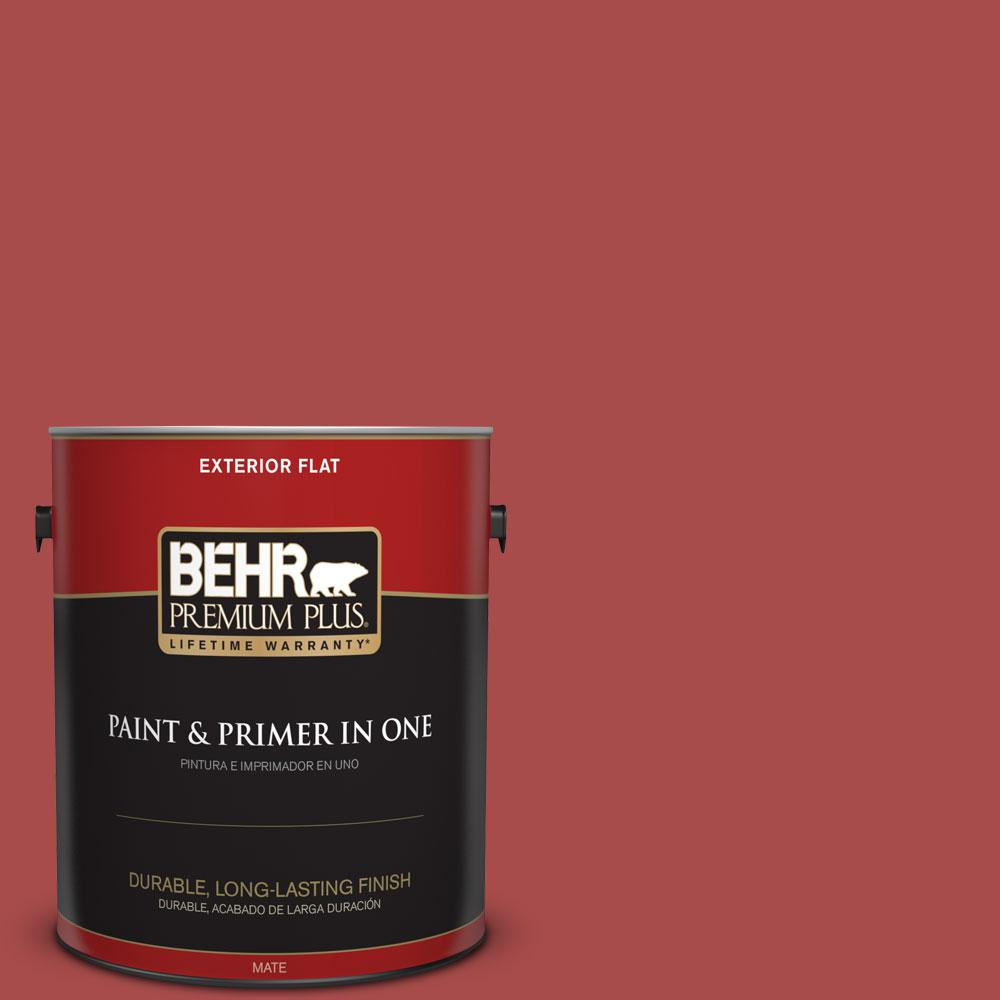 Home Decorators Collection 1-gal. #HDC-CL-09 Persimmon Red Flat Exterior Paint