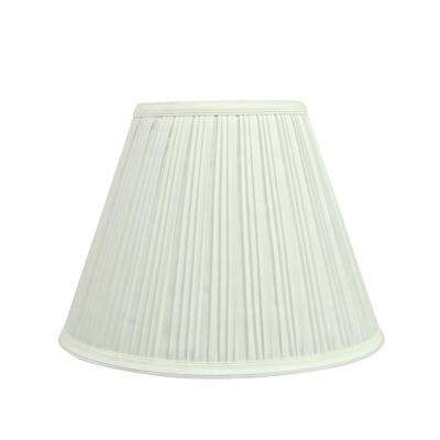 12 in. x 9 in. Off White Pleated Empire Lamp Shade