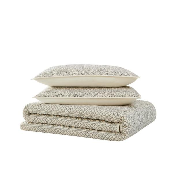 Reviews For Brooklyn Loom Chase 2 Piece Cream And Black Twin Xl Cotton Quilt Set Qs3584txl 2600 The Home Depot