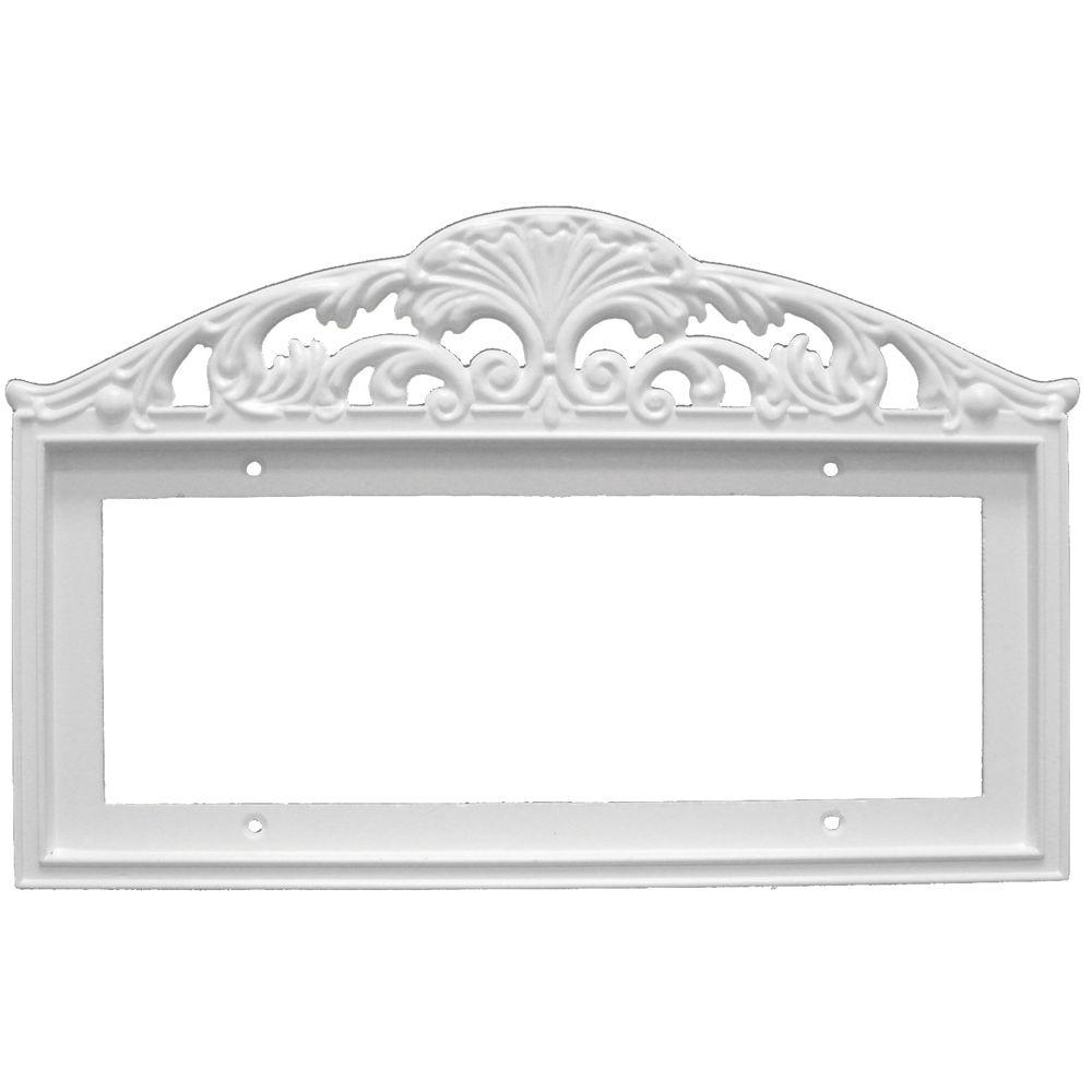 null 3 in. x 6 in. White Filigree Frame Number 5