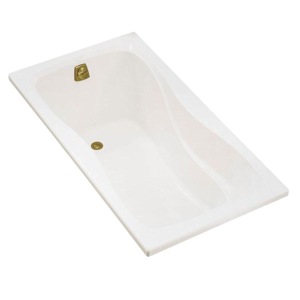 Hourglass 5 ft. Alcove Bath with Left-Hand Drain in Biscuit