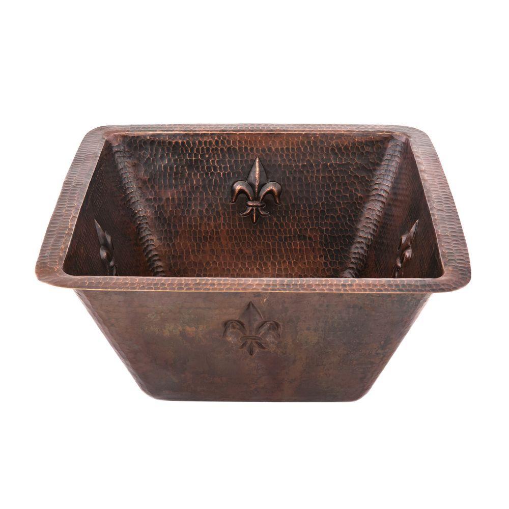 Premier Copper Products Under Counter/Surface-Mount Squar...