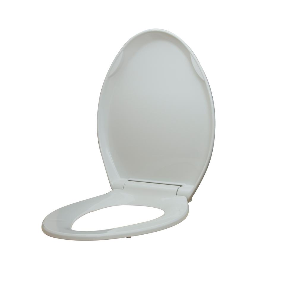 Magnificent Glacier Bay Elongated Slow Closed Front Toilet Seat With Quick Release Hinges In White Pdpeps Interior Chair Design Pdpepsorg