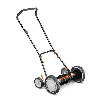 16 in. Manual Walk Behind Reel Lawn Mower with 9 Position Cutting Heights