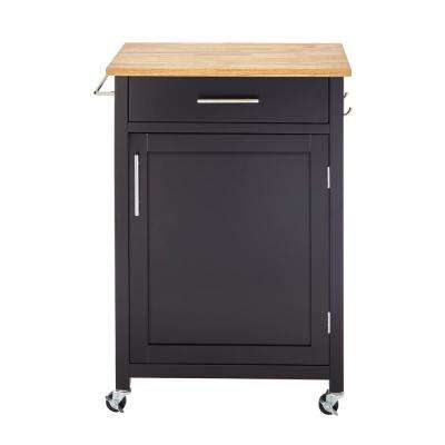 Glenville Black Single Kitchen Cart