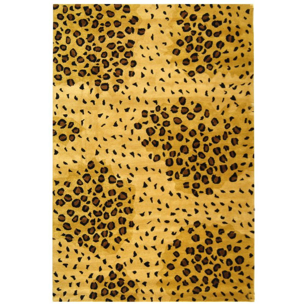 Safavieh Soho Gold/Black 3 ft. 6 in. x 5 ft. 6 in. Area Rug