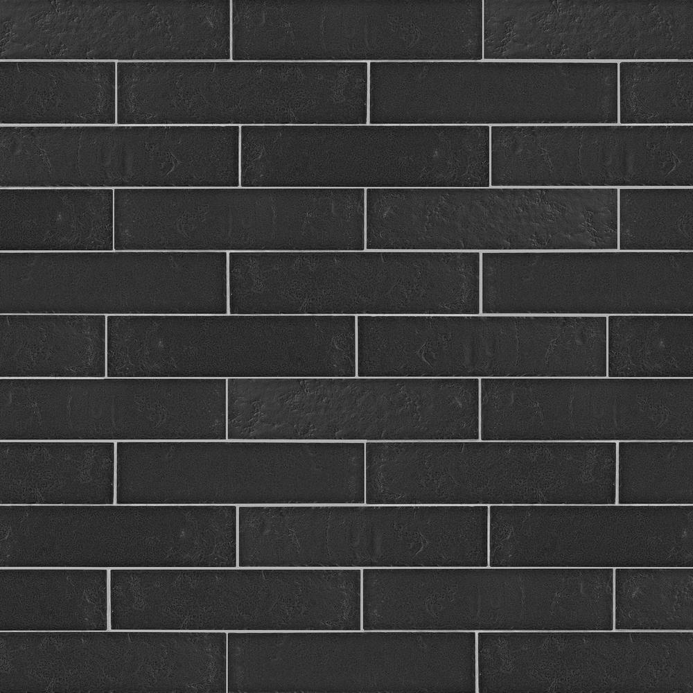 Daltile Urban Fusion Brickscape Jet 3 in. x 12 in. Ceramic Floor and Wall Tile (5.28 sq. ft. / case)