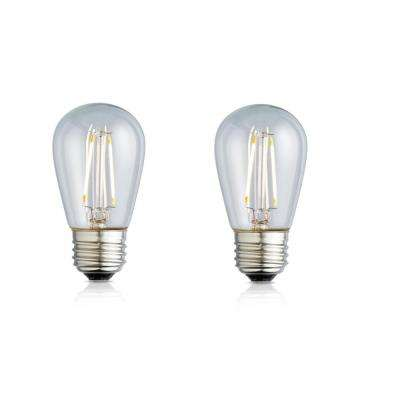 11W Equivalent Soft White S14 Clear Lens Nostalgic LED Light Bulb (2-Pack)