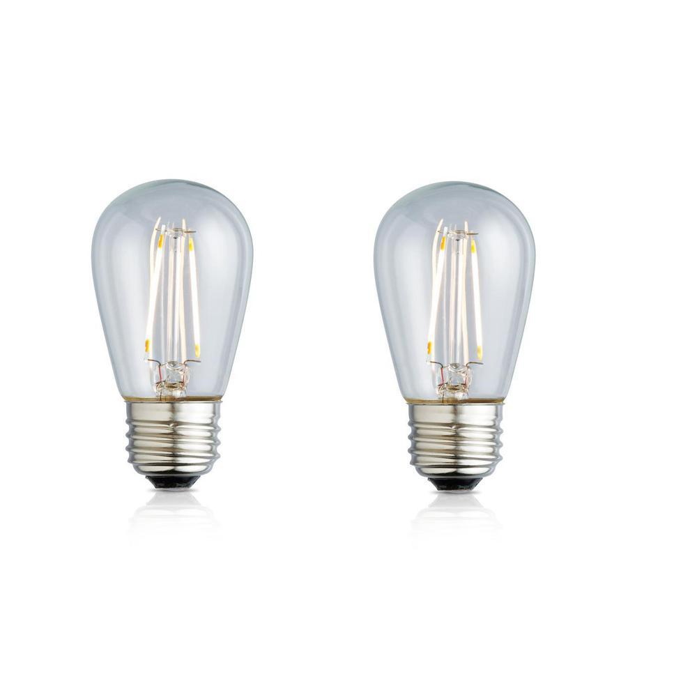 11W Equivalent Soft White S14 Clear Lens Nostalgic LED Light Bulb (2-Pack)