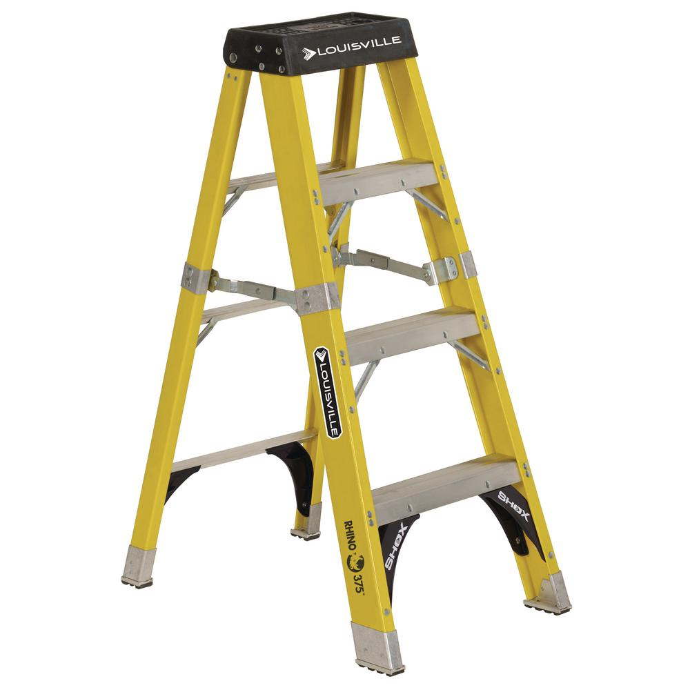 4 ft. Fiberglass Step Ladder with 375 lbs. Load Capacity Type