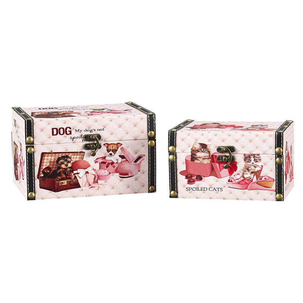 Medium Dog Box and Small Cat Box (Set of 2)