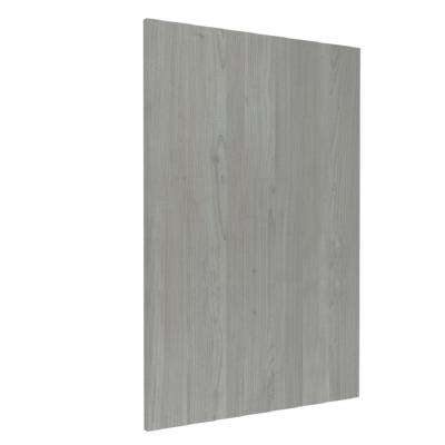 Standard 96 in. x 24 in. x 1 in. Decorative End Panel for Base Cabinet in Grey Nordic Wood