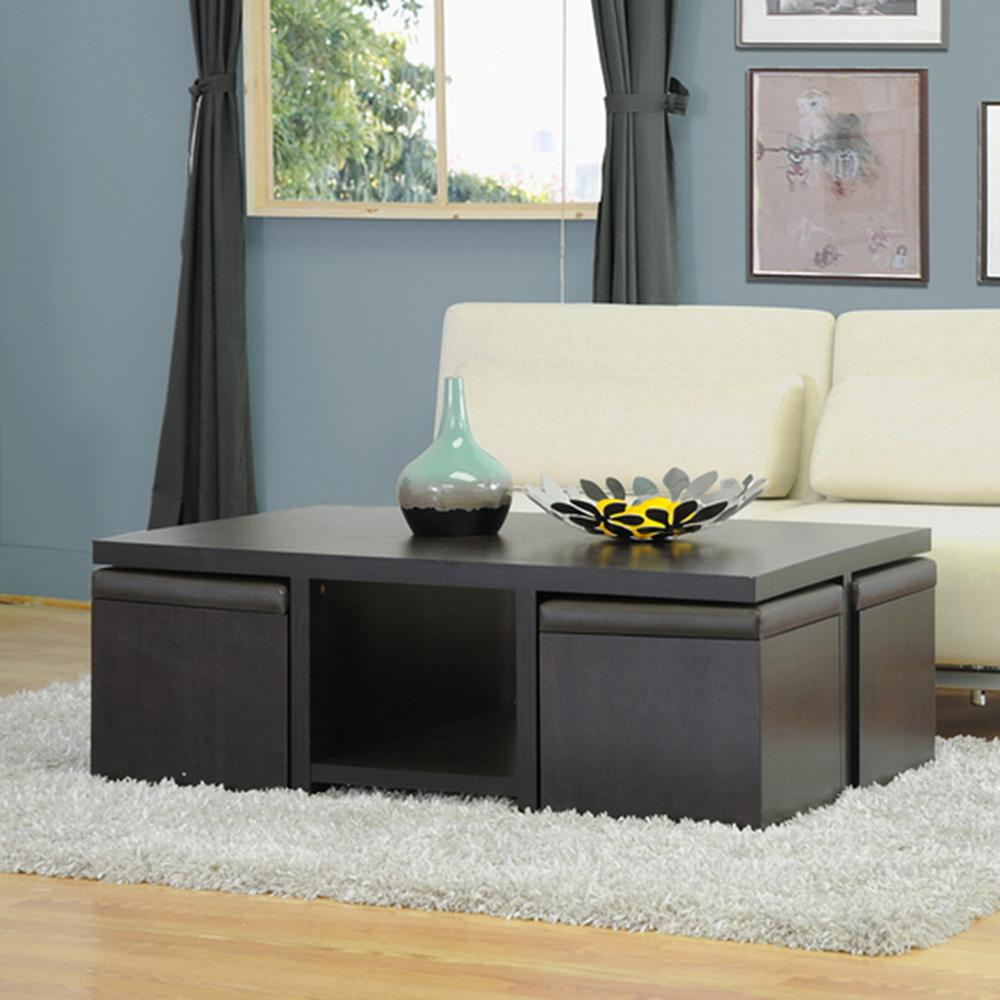 Baxton Studio Prescott Dark Brown Coffee Table
